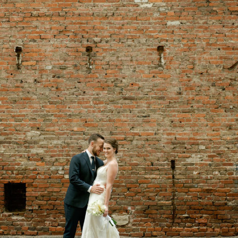 downtown pittsburgh brick wall 485x485 - Renaissance Hotel Wedding | Real Wedding | Shannon + Philip