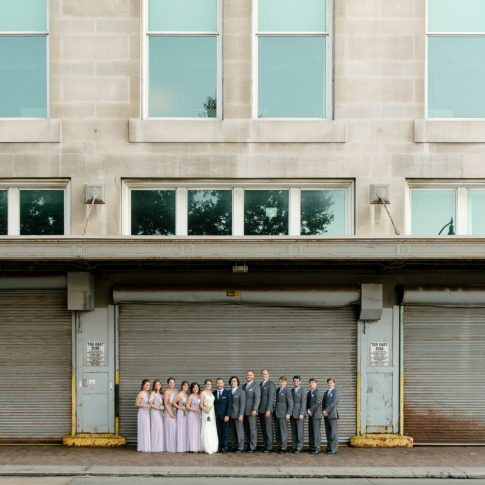 downtown pittsburgh bridal party photos 485x485 - Renaissance Hotel Wedding | Real Wedding | Shannon + Philip