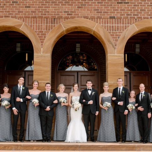 gray bridesmaid dresses bridal party 485x485 - Longue Vue Club Wedding | Real Wedding | Megan + Robert
