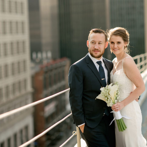 pittsburgh rooftop wedding 485x485 - Renaissance Hotel Wedding | Real Wedding | Shannon + Philip