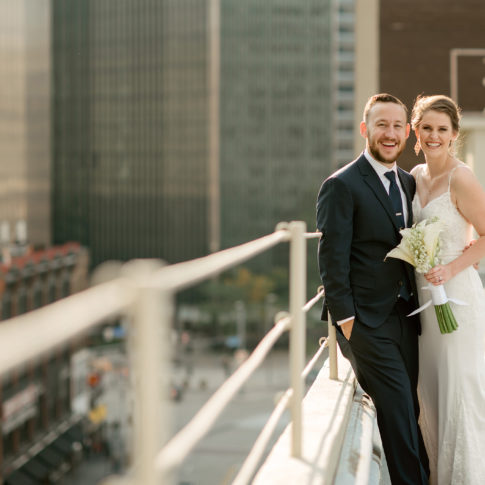 rooftop wedding pittsburgh 485x485 - Renaissance Hotel Wedding | Real Wedding | Shannon + Philip