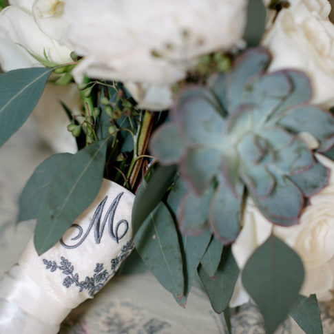 succulent wedding flowers 485x485 - Longue Vue Club Wedding | Real Wedding | Megan + Robert