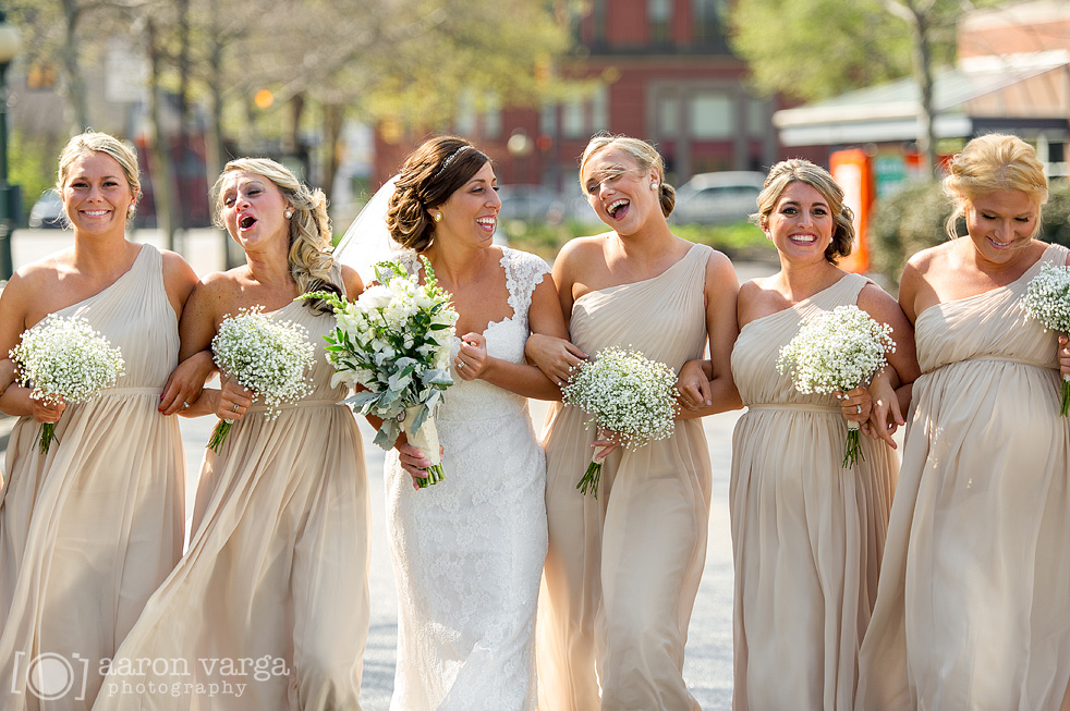 Real Bridesmaids In Beige Bridesmaid Dresses: DoubleTree Hotel Greentree Wedding