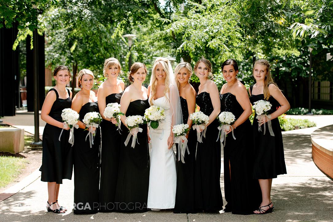 08 black bridesmaid dresses - Mallory + Mark | Circuit Center & Ballroom Wedding Photos