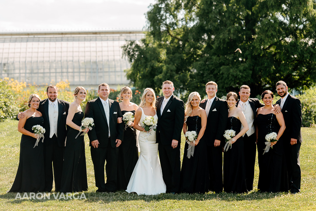 14 phipps conservatory wedding bridal party - Mallory + Mark | Circuit Center & Ballroom Wedding Photos